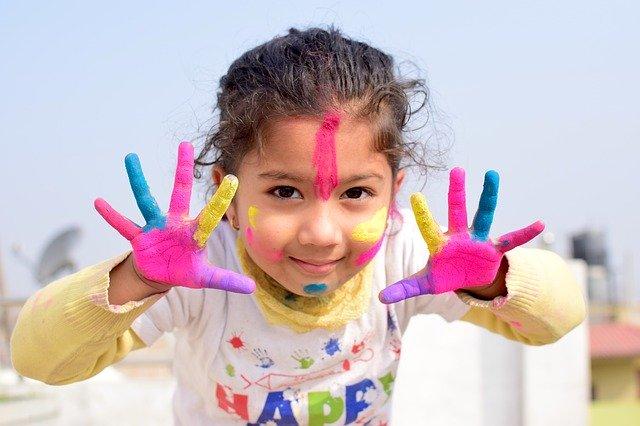 Pomona, CA child painting
